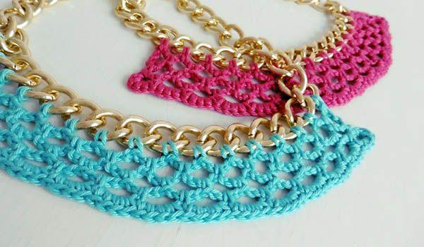curso collares y aretes crochet