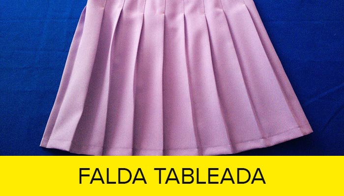 confeccion falda tableada curso