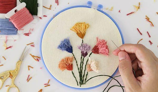 curso bordar flor