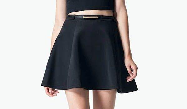 falda con vuelos