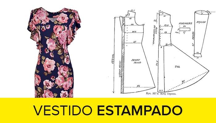 curso como hacer vestido estampado