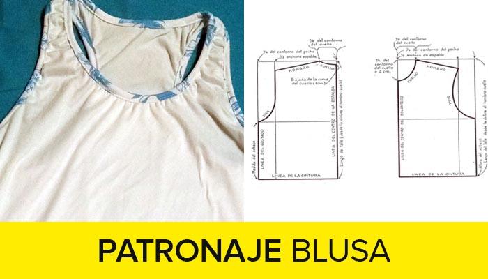 curso patronaje de blusas