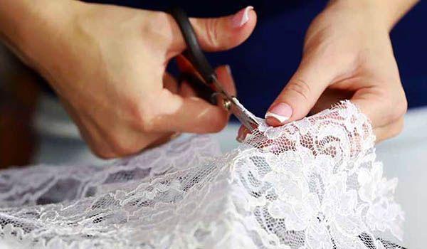 curso como coser tela de encaje