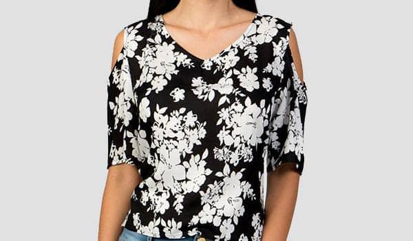 como hacer blusa con hombros semideescubiertos